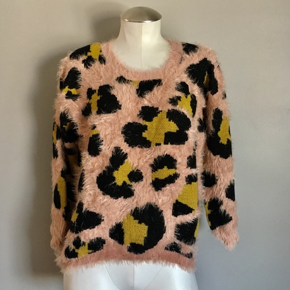 a015afd102 New Alythea Fuzzy Animal Print Sweater